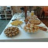 Serviços de buffet em domicilio para evento na Chácara Cruzeiro do Sul